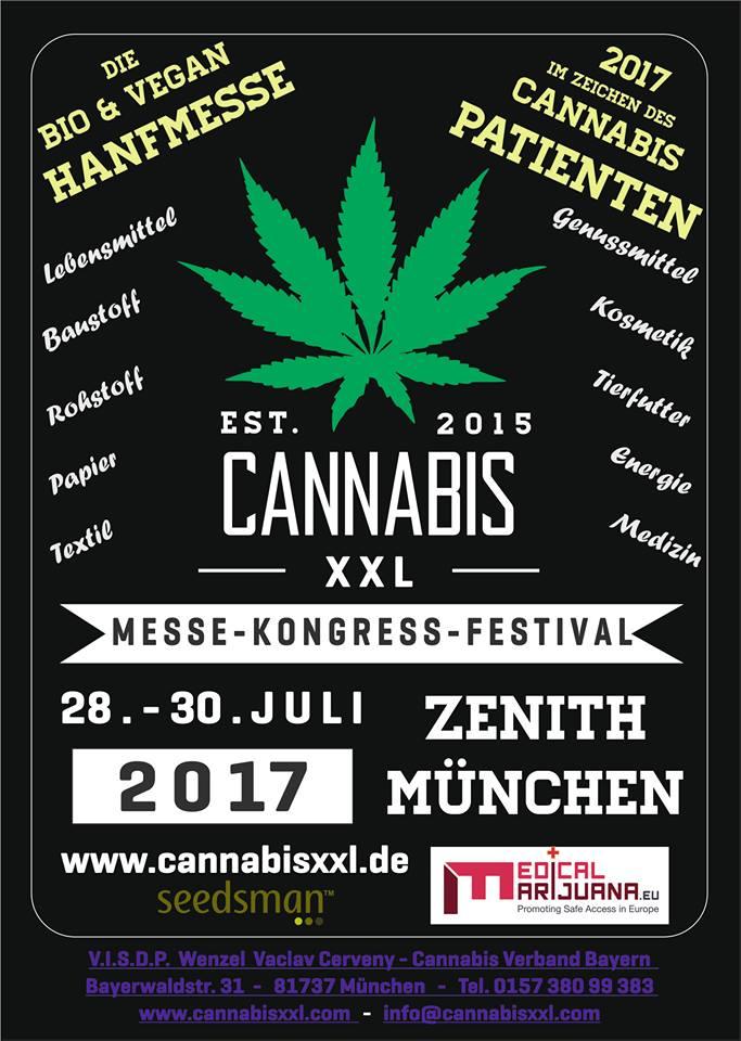 Cannabis XXL Hanfmesse, Munich, Germany, 28 - 30 July 2017
