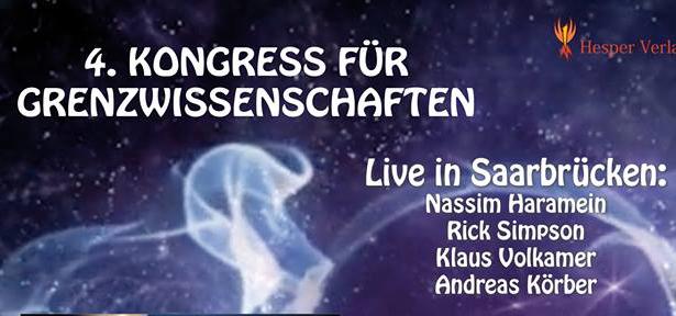 4th Congress of Frontier Science in Oct 2016, Saarbrucken, Germany